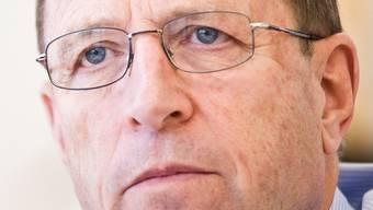 Baudirektor Peter C. Beyeler ist noch bis Ende März in seinem Büro im Buchenhof in Aarau.