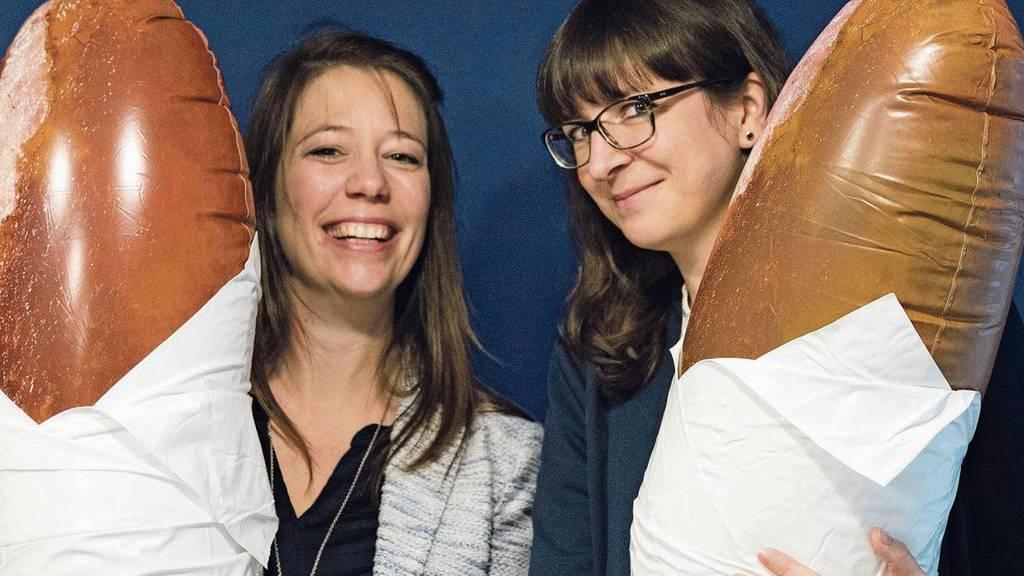 Monika Gojkovic (links) und Sonja Bloch wollen mit ihrer App die Vielfalt der Stadt St. Gallen aufzeigen.