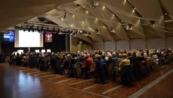 Info-Veranstaltung vom Januar 2020 zum Zukunftsraum Aarau im Zentrum Bärenmatte in Suhr.