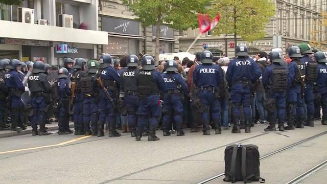 Riesen Polizeiaufgebot in Bern