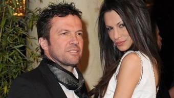 Lothar Matthäus vor einem Jahr mit seiner Ex Joanna, die - im Gegensatz zu seiner Neuen, Anastasia - Hintergedanken hatte (Archiv)
