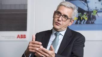 Ulrich Spiesshofer am Hauptsitz in Zürich Oerlikon: Der ABB-Chef hat ein turbulentes Jahr hinter sich.