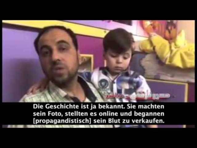 Interview des panarabischen und Assad nahen TV-Senders «Al Mayadeen News» mit Omran Daqneeshs Vater.