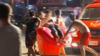 Explosion in Freizeitpark in Taiwan