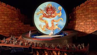 """Giacomo Puccinis Oper """"Turandot"""" auf der Seebühne in Bregenz verzeichnete bisher eine Auslastung von 100 % (Archiv)"""