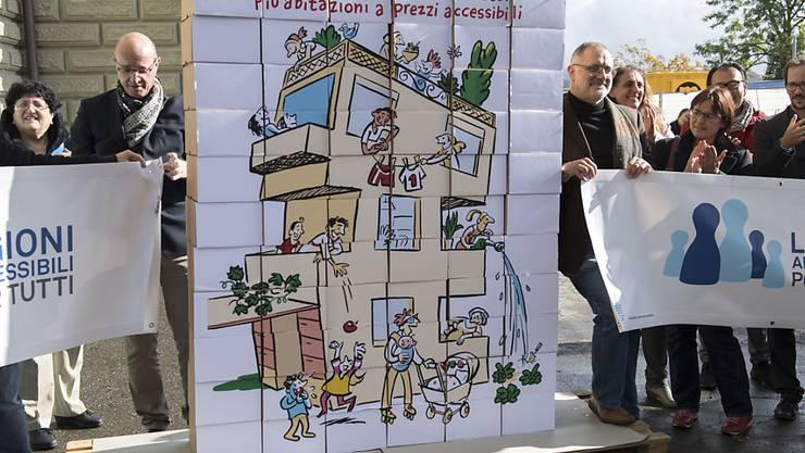 """Gemäss Auffassung des Bundesrats stellt die Volksinitiative """"Mehr bezahlbare Wohnungen"""" keine realistischen Forderungen. Deshalb lehnt der Bundesrat das Begehren ab. (Archivbild)"""