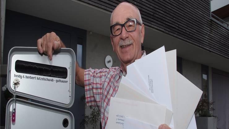 Am Ziel: Herbert Lützelschwab sammelte fast im Alleingang 6546 Unterschriften für den Erhalt des TNW-Beitrags. Der Grosse Rat stimmte gestern zu. Archiv/twe