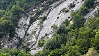 Steinschlaggefahr Kletterplatte Oberbuchsiten