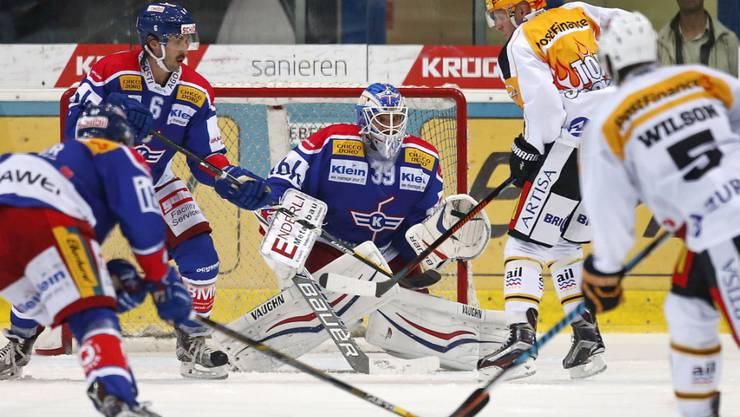 Klotens Hüter Luca Boltshauser rettete dem EHC Kloten den 3:2-Sieg über Lugano