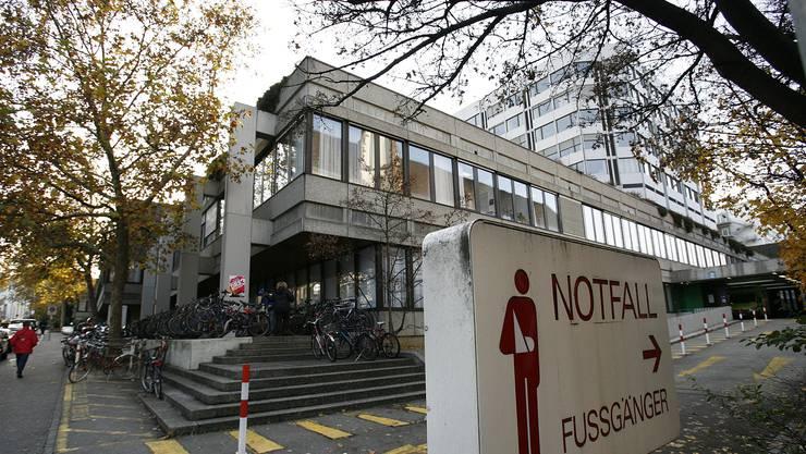 Notfalleingang beim Universitätsspital Basel