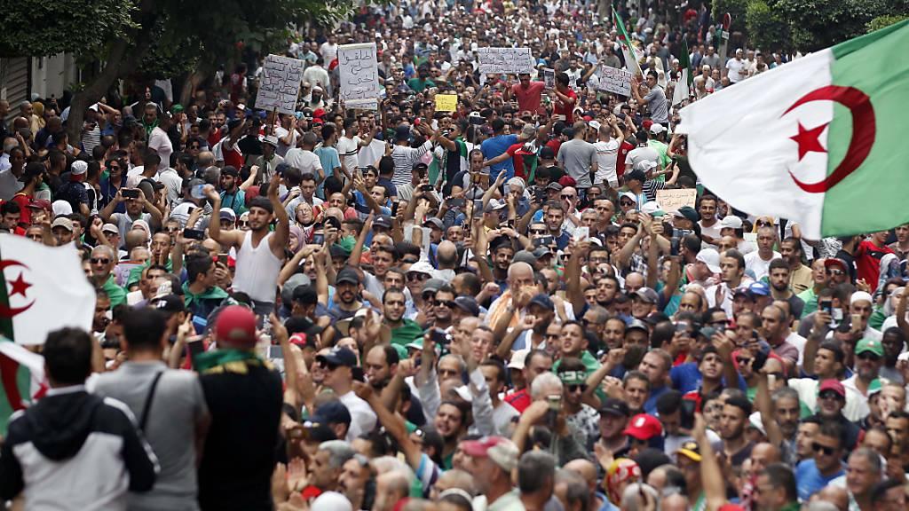 Zehntausende protestieren gegen Algeriens politische Führung