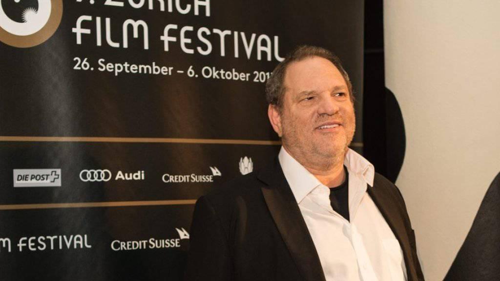 Harvey Weinstein - hier 2013 auf dem grünen Teppich des Zurich Film Festivals - kann dieses Jahr nicht kommen (Archiv).