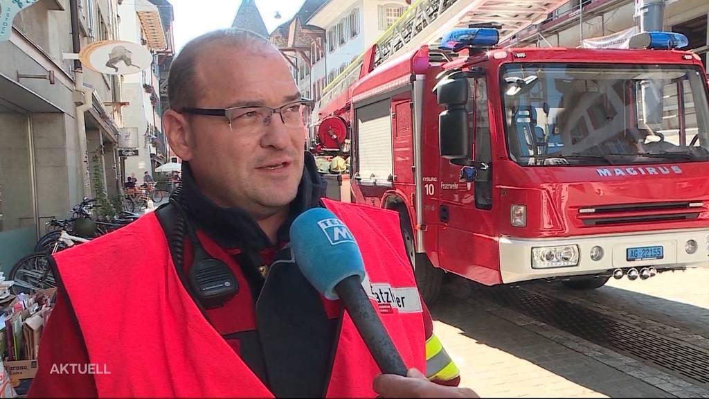 Interview mit der Feuerwehr nach dem Brand in der Aarauer Altstadt