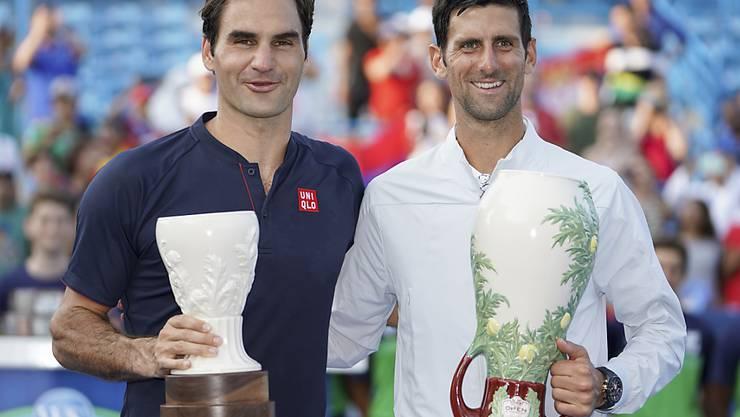Roger Federer wurde im letzten Jahr beim Turnier in Cincinnati erst im Final von Novak Djokovic gestoppt