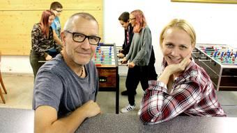 Choo-Leiter Markus Furrer und Drehbuchautorin Tatjana Steinbichl, welche den Jugendtreff seit einigen Jahren mit leitet.