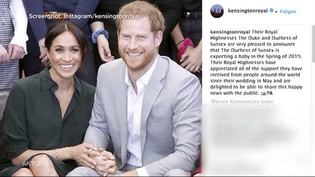 Meghan Markle und Prinz Harry werden Eltern