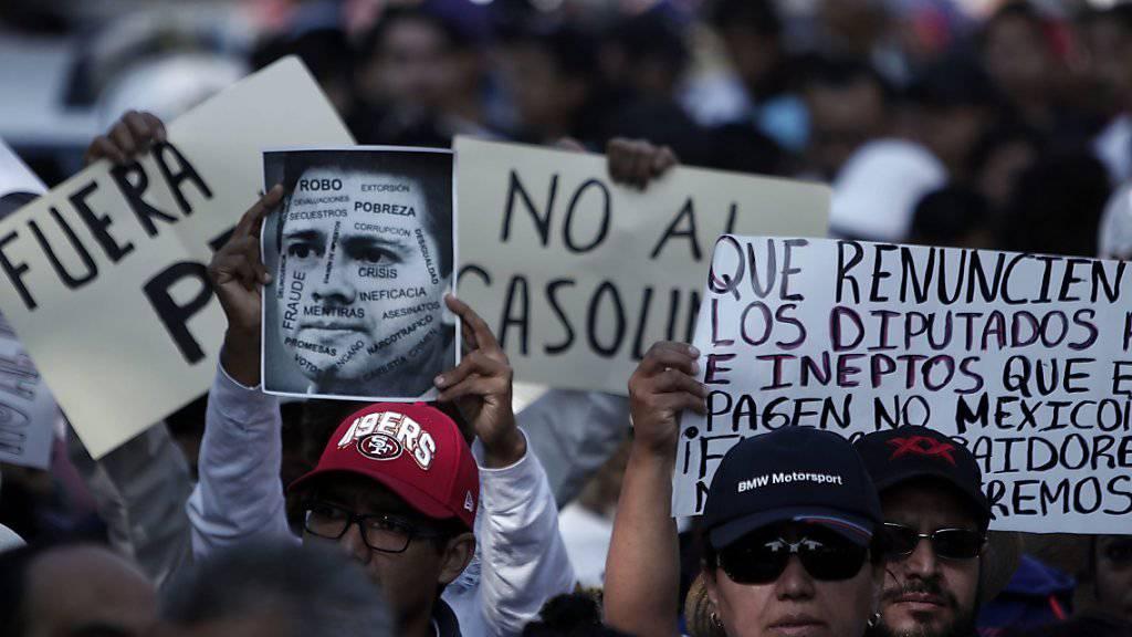 Auch in der mexikanischen Stadt Puebla kam es zu Protesten gegen die höheren Benzinpreise