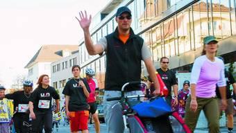 City Skate: Durch Langenthal rollen: Ein Spass für Gross und Klein (Bild: Marcel Bieri)