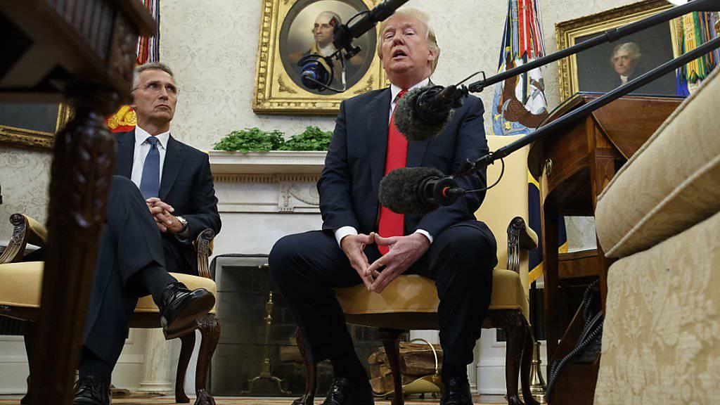 US-Präsident Trump (rechts) und Nato-Generalsekretär Stoltenberg im Weissen Haus