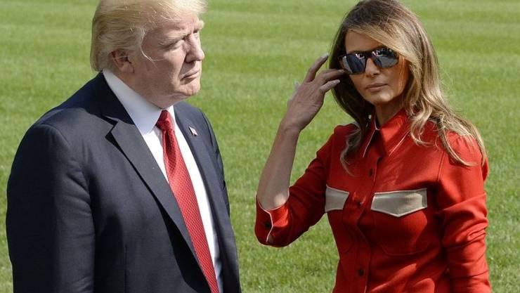 """Donald Trump und seine Frau Melania sind 2019 für den Spott-Filmpreis """"Goldene Himbeere"""" nominiert. (Archiv)"""