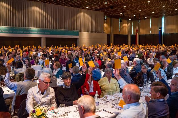 Impressionen von der Generalversammlung der Aquilana Versicherung im tägi in Wettingen. Es ist die GV im Jahr des 125-Jahr-Jubiläums des Unternehmens.