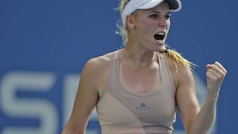 Wozniacki setzte sich gegen eine angeschlagene Peng durch