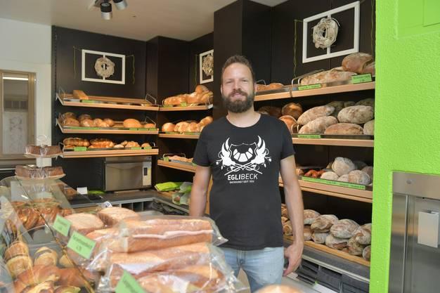 Philipp Egli in seinem Verkaufsladen an der Bettlachstrasse.
