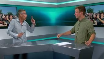 Sind sich wirklich so gar nicht einig: die AZ-Fussballexperten Ruedi Kuhn und Sebastian Wendel im Streitgespräch.