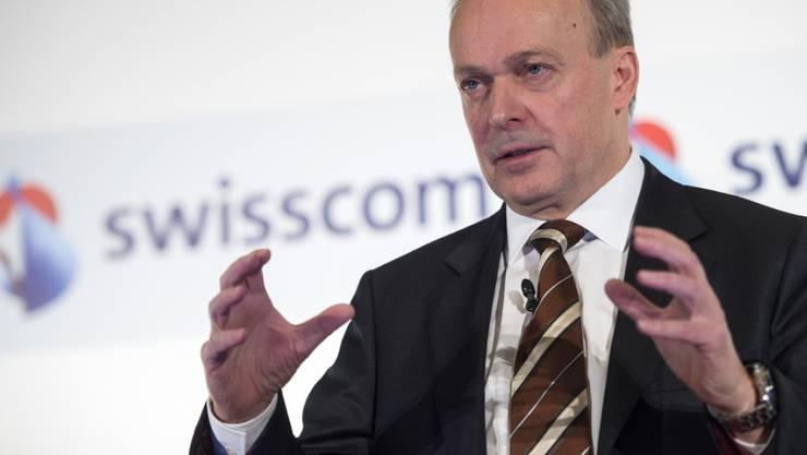 Swisscom weist die Vorwürfe zurück: im Bild Konzernchef Urs Schaeppi. (Archiv)