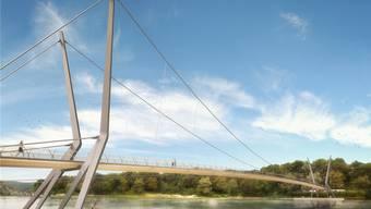 Für die einen ist der Rheinsteg unverhältnismässig teuer für die anderen eine Investition in die Zukunft.Bild: zvg