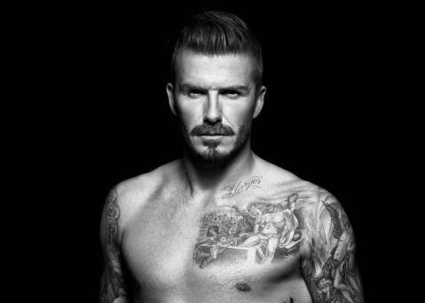 David Beckham in Unterwäsche von H &M