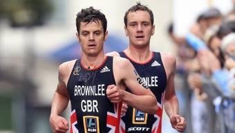 Kann bis auf weiteres keine Rennen mit seinem Bruder Jonathan (vorne) bestreiten: der englische Triathlet Alistair Brownlee