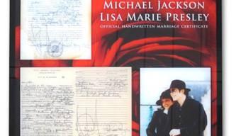 Kopie von Michael Jacksons Heiratsurkunde (Bild United Charity)
