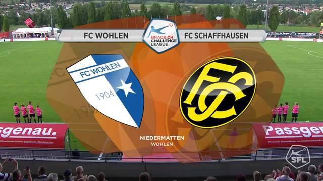 Das ganze Spiel FC Wohlen - FC Schaffhausen.