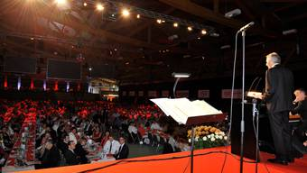 Jubiläums-Generalversammlung der Regiobank Solothurn in der Eissporthalle Zuchwil