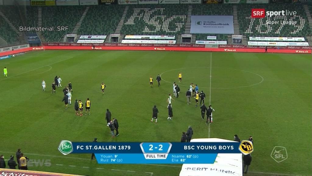 Verrückte Partie zwischen St.Gallen und YB