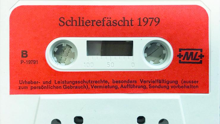 Anlässlich des Schlierefäschts 1979 nahmen Musiker eigens eine Kassette auf. Die Kommission für Ortsgeschichte sucht nun mehr Bilder.