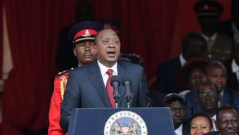 Amtsinhaber Uhuru Kenyatta hat wie erwartet die erneute Präsidentenwahl in Kenia gewonnen. (Archiv)