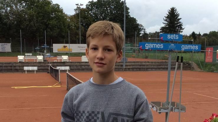Marius Hümbelin, jüngster Clubmeister des TCA