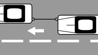 So wird ein Auto richtig abgeschleppt (Visualisierung).