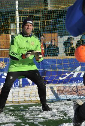 Thomas Matter als Fussball-Goalie.