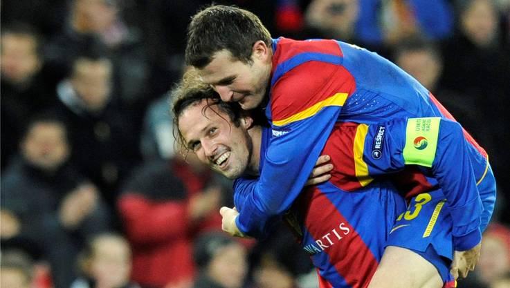 Die beiden ehemaligen Führungsspieler Marco Streller und Alex Frei.