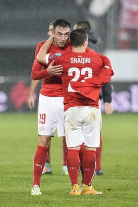 Shaqiri und Drmic waren die Matchwinner gegen Litauen.
