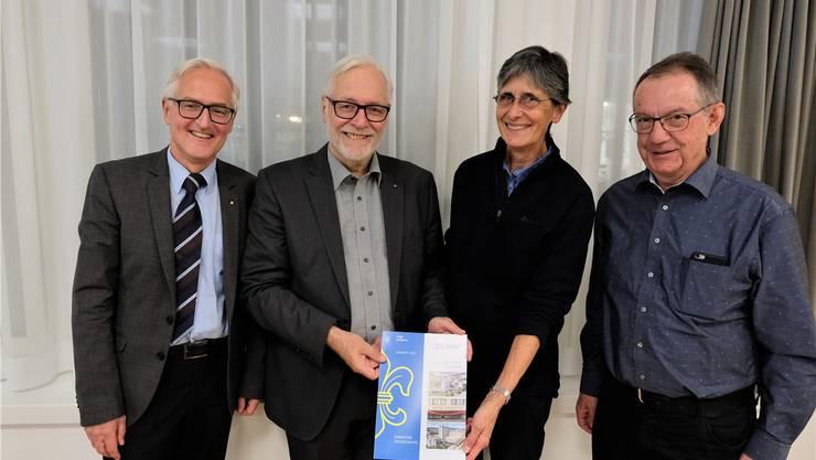 Eine spannende Lektüre erschaffen: «Limmi»-Chefarzt Basil Caduff, Jahrheft-Autor Peter Voser, Lektorin Marianne Bühler und Lektor Peter Hubmann.