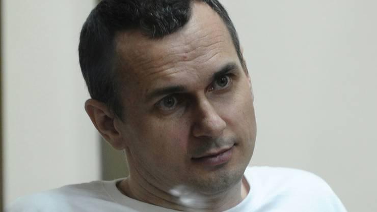 Der ukrainische Filmemacher Oleg Senzow während seines Prozesses im Juli 2015. Die Europäische Filmakademie forderte an der Berlinale seine Freilassung. (Archiv)