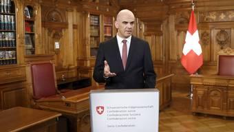 Bundespräsident Alain Berset während seiner Neujahrsansprache