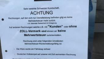 Achtung Mehrwertsteuer: Diese deutsche Firma wurde vom Zoll gemassregelt.