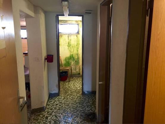 Dusche, Toiletten, Waschraum: Blick in die sanitären Anlagen in Holderbank