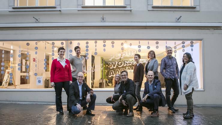 In Aarau an der Rathausgasse eröffnet im ehemaligen Möbelhaus Strebel ein Co-Working-Space.
