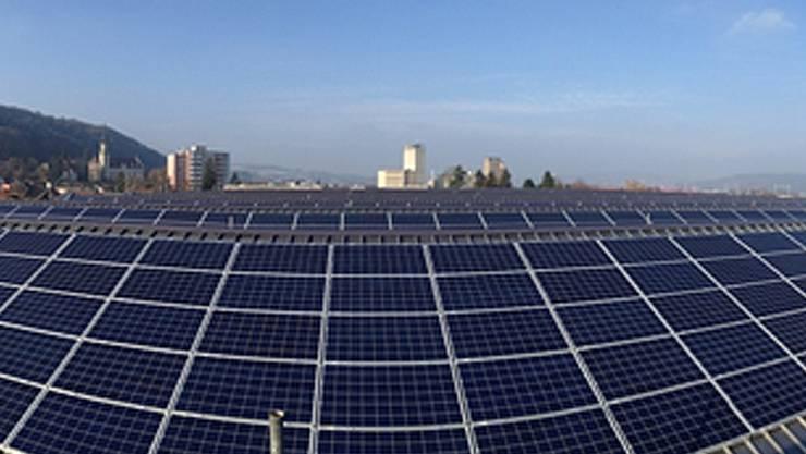 Die neue Solaranlage auf den Dächern der Xaver Meyer AG.